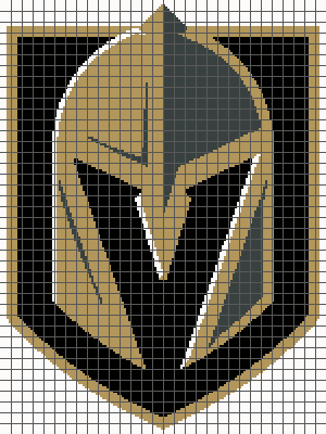 Vegas Golden Knights - (Graph AND Row-by-Row Written Crochet Instructions) - 01