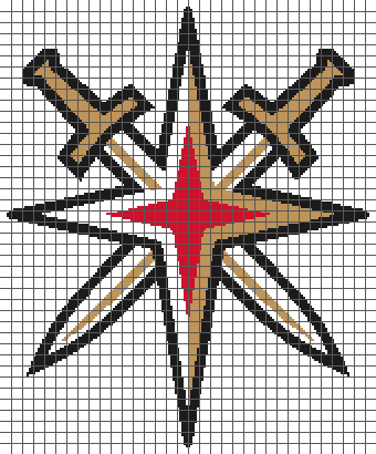 Vegas Golden Knights - (Graph AND Row-by-Row Written Crochet Instructions) - 02