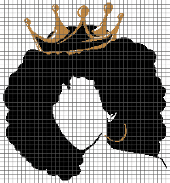 Curly-Haired Queen - (Graph AND Row-by-Row Written Crochet Instructions) - 01