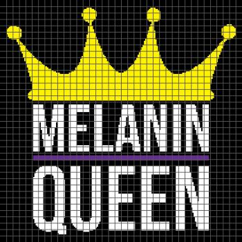 Melanin Queen - (Graph AND Row-by-Row Written Crochet Instructions) - 07