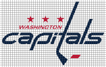 Washington Capitals - (Graph AND Row-by-Row Written Crochet Instructions) - 01