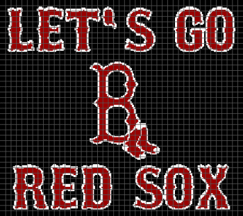 Let's Go Red Sox - (Graph AND Row-by-Row Written Crochet Instructions) - 04