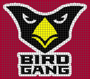 Arizona Cardinals Birdgang - (Graph AND Row-by-Row Written Crochet Instructions) - 03