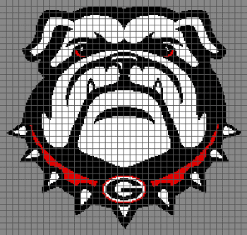University of Georgia Bulldawgs - (Graph AND Row-by-Row Written Crochet Instructions) - 10