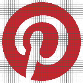 Pinterest Logo - (Graph AND Row-by-Row Written Crochet Instructions) - 01
