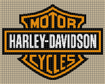 Harley Davidson - (Graph AND Row-by-Row Written Single Crochet Instructions) - 08
