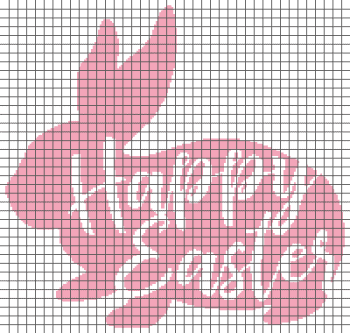 Happy Easter - (Graph AND Row-by-Row Written Single Crochet Instructions) - 03