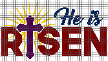 He is Risen - (Graph AND Row-by-Row Written Single Crochet Instructions) - 08