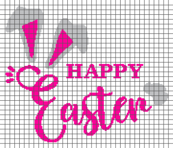 Happy Easter - (Graph AND Row-by-Row Written Single Crochet Instructions) - 11