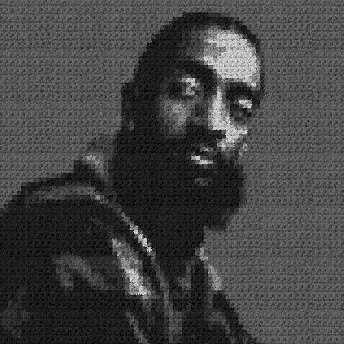 Nipsey Hussle Pillow - (Graph AND Row-by-Row Written Single Crochet Instructions) - 05s