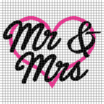 Mr & Mrs - (Graph AND Row-by-Row Written Single Crochet Instructions) - 13