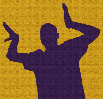 Omega Psi Phi Man - SC (Single Crochet) Written Graphghan Pattern - 01 (240x240)