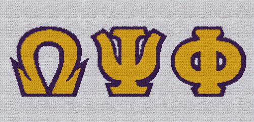 Omega Psi Phi - SC (Single Crochet) Written Graphghan Pattern - 02 (249x125)