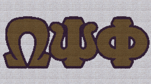 Omega Psi Phi - SC (Single Crochet) Written Graphghan Pattern - 05 (250x130)