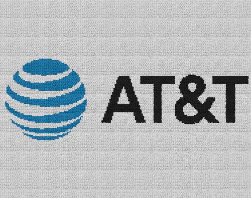 AT&T Logo - Single Crochet Written Graphghan Pattern - 01 (190x150)