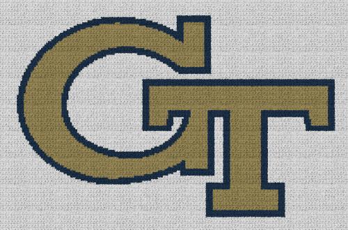 Georgia Tech - Single Crochet Written Graphghan Pattern - 02 (205x135)