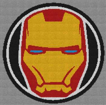 Iron Man - Single Crochet Written Graphghan Pattern - 04 (203x202)