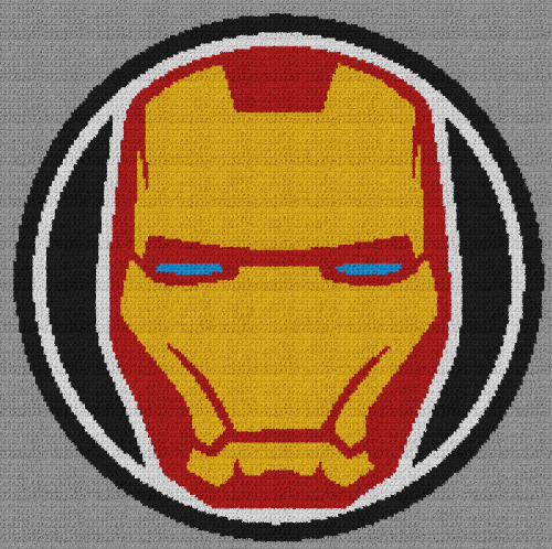 Iron Man - Single Crochet Written Graphghan Pattern - 04 (203x202)