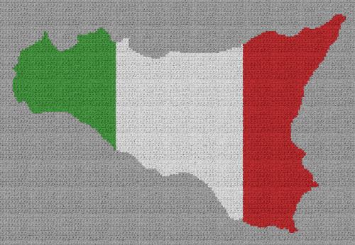 Sicily, Italy - Single Crochet Written Graphghan Pattern - 01 (195x135)