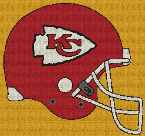 Kansas City Chiefs Helmet Graphghan