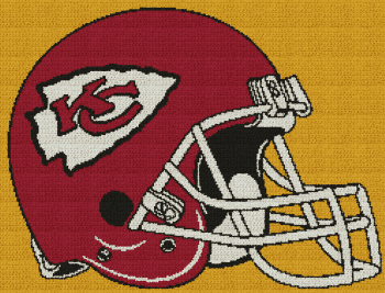 Kansas City Chiefs Helmet Graphghan