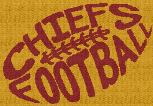 Chiefs Football - Single Crochet Written Graphghan Pattern - 05 (249x173)