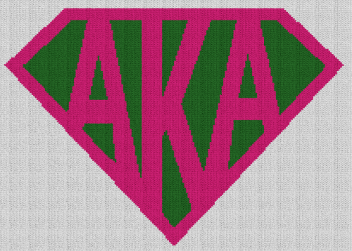 Super AKA (Alpha Kappa Alpha) - Single Crochet Written Graphghan Pattern - 03 (210x150)