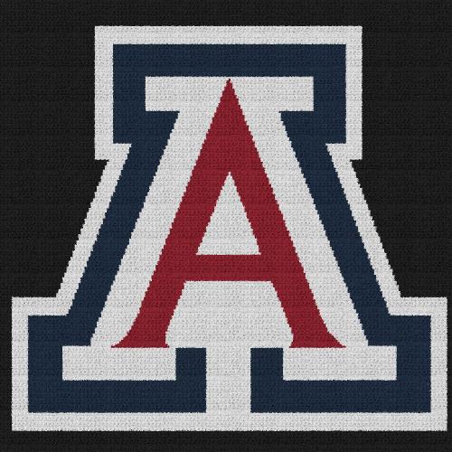 Arizona Wildcats - C2C Written Graphghan Pattern - 02 (226x226)