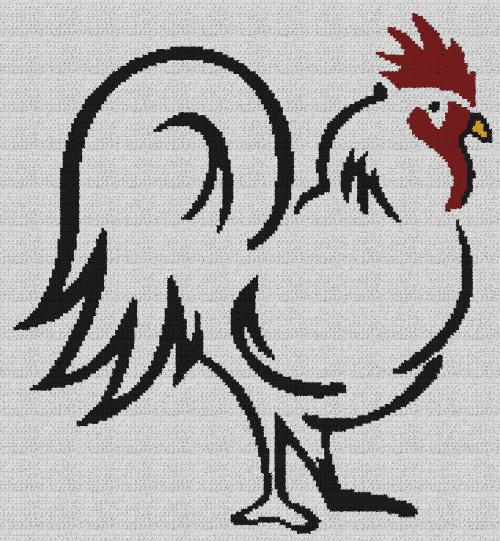 Chicken - Single Crochet Written Graphghan Pattern - 03