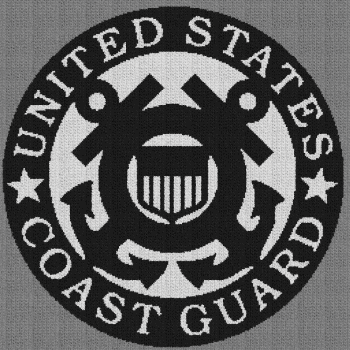 United States Coast Guard - C2C Written Graphghan Pattern - 02 (259x259)