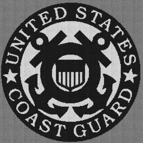 United States Coast Guard - C2C Written Graphghan Pattern - 02 (259x259)