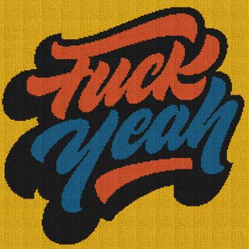 Fuck Yeah - Single Crochet Written Graphghan Pattern - 01