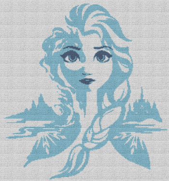 Elsa - Frozen - Single Crochet Written Graphghan Pattern - 17