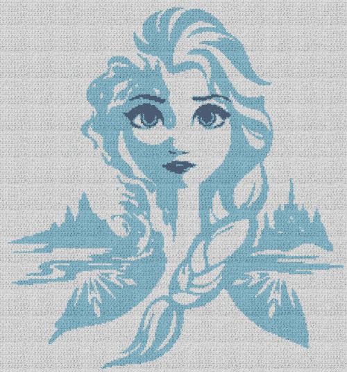 Elsa - Frozen - Single Crochet Written Graphghan Pattern - 17