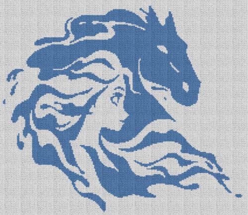 Elsa & The Nokk - Frozen II - Single Crochet Written Graphghan Pattern - 19
