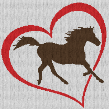 Horse Love - Single Crochet Written Graphghan Pattern - 03