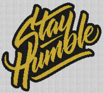 Stay Humble - Single Crochet Written Graphghan Pattern - 01