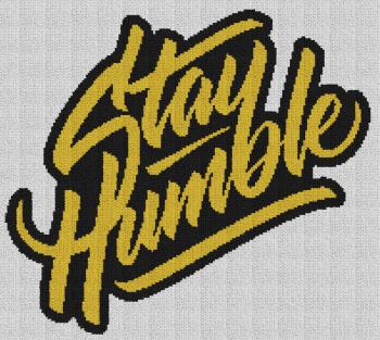 Stay Humble - Single Crochet Written Graphghan Pattern - 01