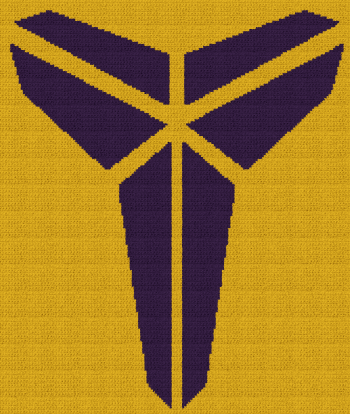 Black Mamba - Kobe Bryant - Single Crochet Written Graphghan Pattern - 02