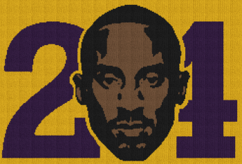 Kobe Bryant 24 - Single Crochet Written Graphghan Pattern - 03