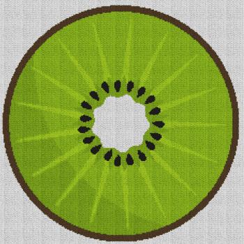 Sliced Kiwi - Single Crochet Written Graphghan Pattern - 01 (230x230)