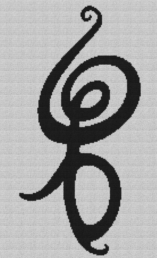 Hakuna Matata Symbol - The Lion King - Single Crochet Written Graphghan Pattern - 04 (140x230)