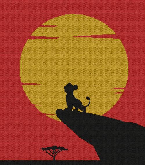 The Lion King - Young Simba - Single Crochet Written Graphghan Pattern - 05 (200x228)