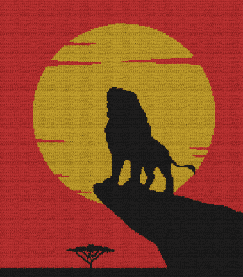 The Lion King - Adult Simba - Single Crochet Written Graphghan Pattern - 06 (200x228)