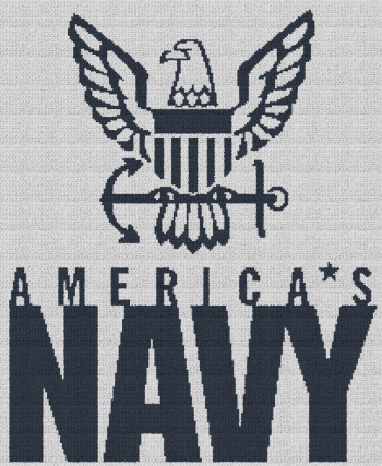 America's Navy - Single Crochet Written Graphghan Pattern - 06 (205x250)