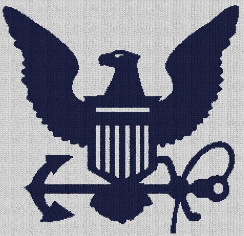 United States Navy - Single Crochet Written Graphghan Pattern - 07 (235x228)