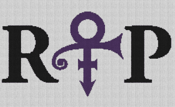 Prince RIP - Single Crochet Written Graphghan Pattern - 09 (230x140)