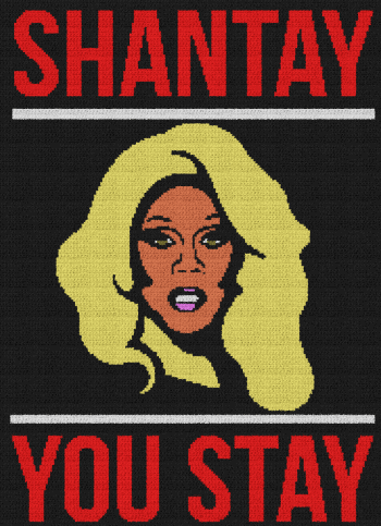 Shantay You Stay (RuPaul's Drag Race) - Single Crochet Written Graphghan Pattern - 01 (184x254)