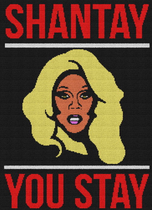 Shantay You Stay (RuPaul's Drag Race) - Single Crochet Written Graphghan Pattern - 01 (184x254)