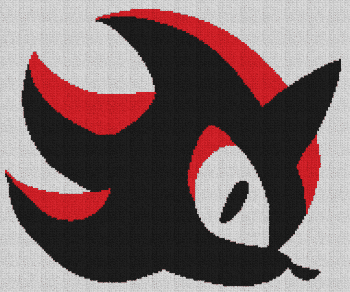 Shadow the Hedgehog - Single Crochet Written Graphghan Pattern - 02 (192x160)